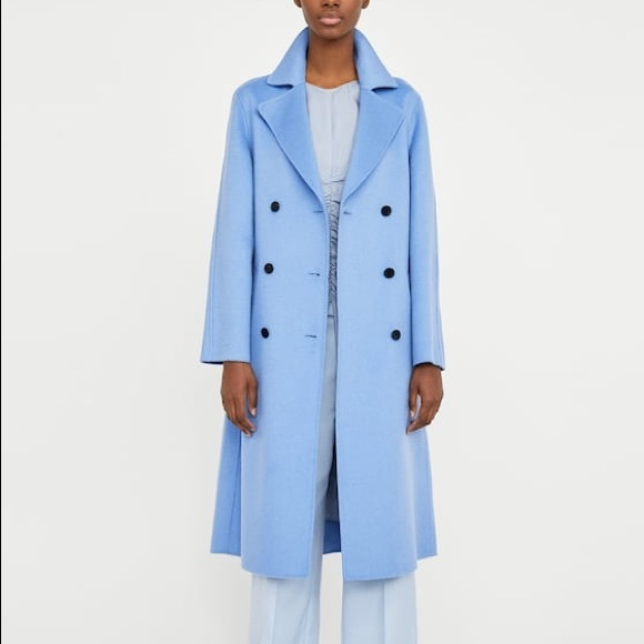 8d3cf5ca ... Blue Double Breasted Wool Coat. Zara. M_5bb03f3b3c9844a6ecb5b0da.  M_5bb03f3dc9bf50d04e306da0. M_5bb03f3e12cd4a153096dad9.  M_5bb03f3f2beb7931be39dc0b